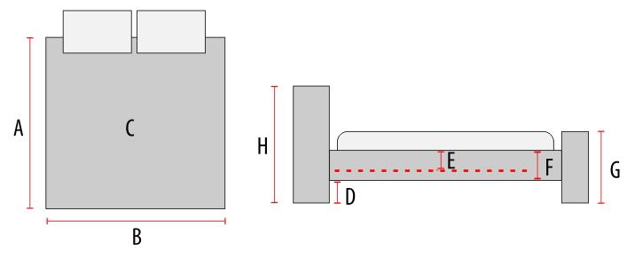 Pat divan metalic Kenia alb 90×200 cm 3